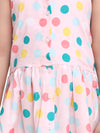 Halter Neck  Collar Frock For baby girls-Light Pink