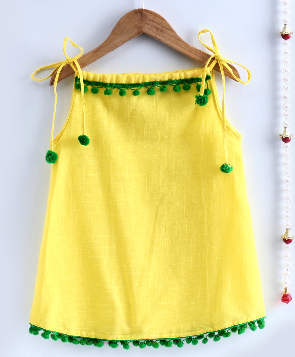 Infant Adjustable Cotton Jhabla-Yellow