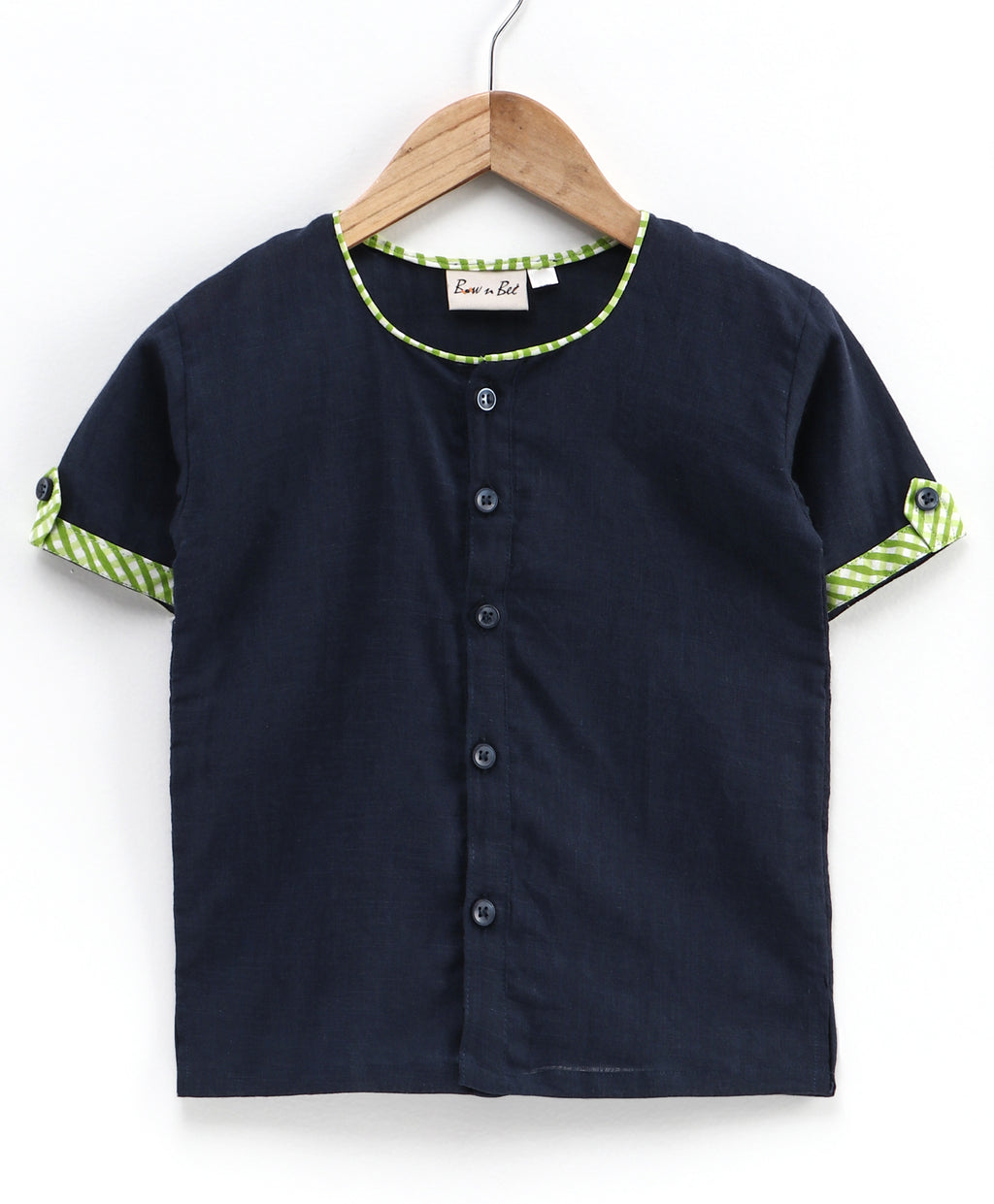 Cotton Half Sleeve Shirt For Baby Boys- Blue