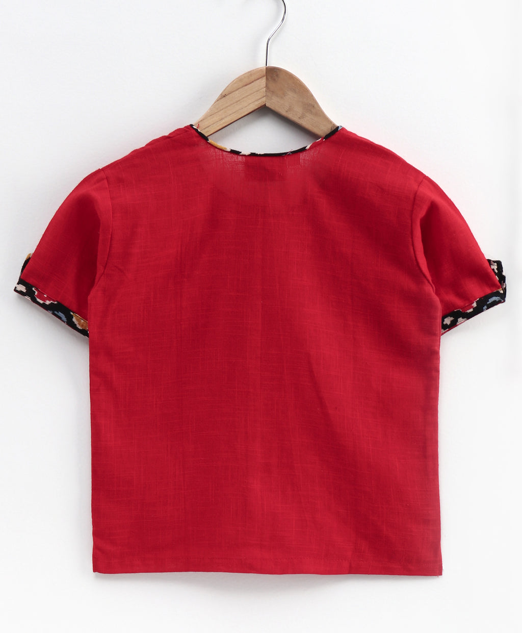 Cotton Half Sleeve Shirt For Baby Boys-Red