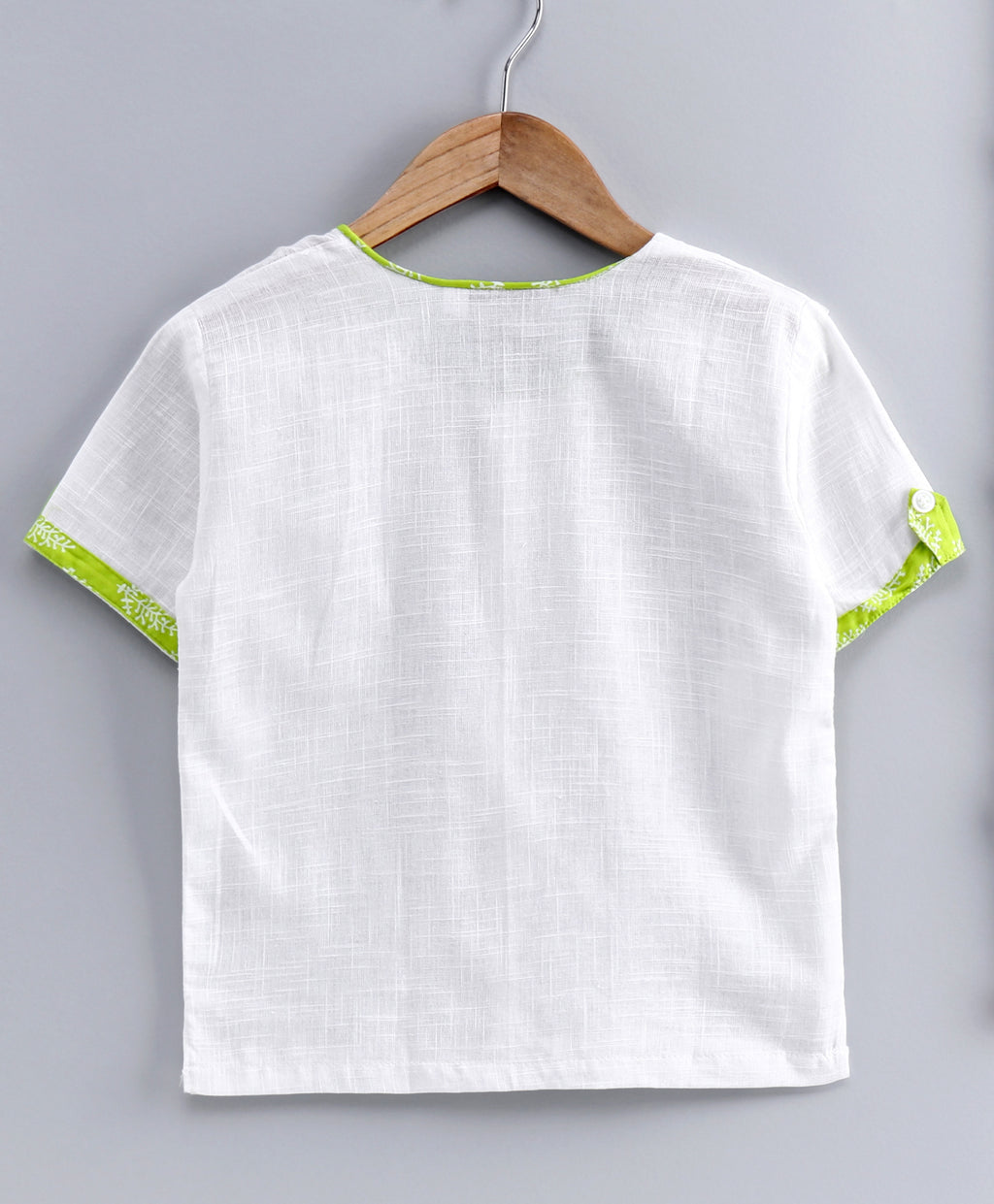 Cotton Half Sleeve Shirt For Baby Boys-White