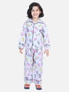 Full Sleeve Printed Boys Night Suit- Gray