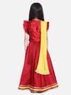 Taffeta Booti Patch Lehenga Choli- Red