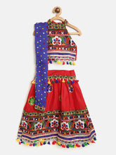 Mirror Work Chaniya Choli -Red