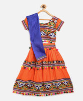 Rayon Chaniya Choli - Orange
