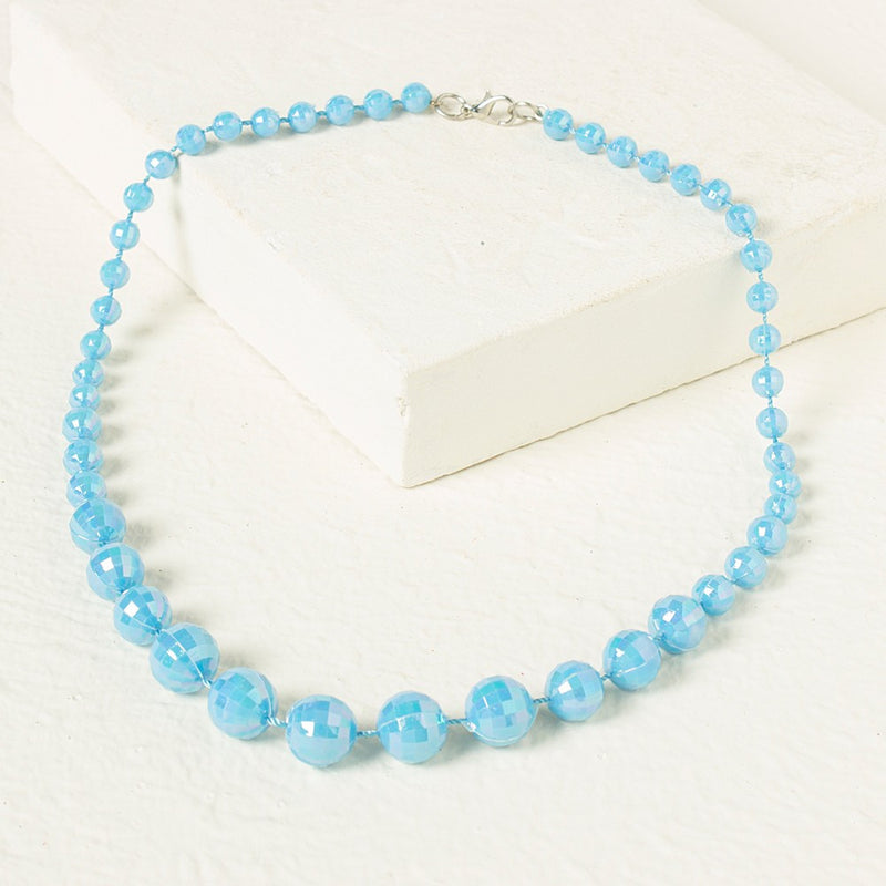 Beads Necklace - Blue - BownBee - Creating Special Moments