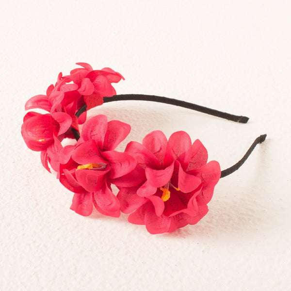 Princess Floral headband - Red