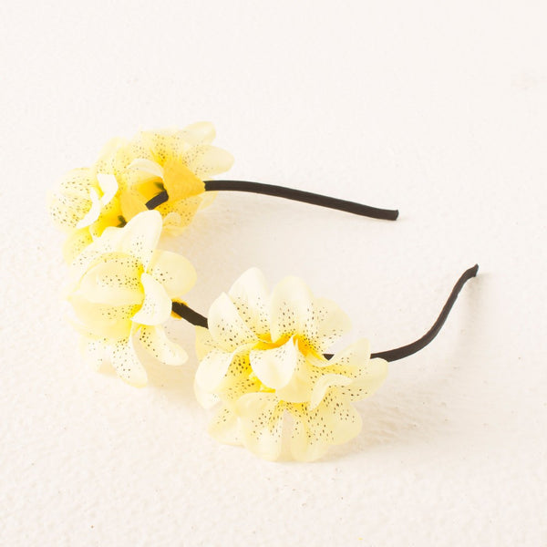Princess Floral headband - Yellow