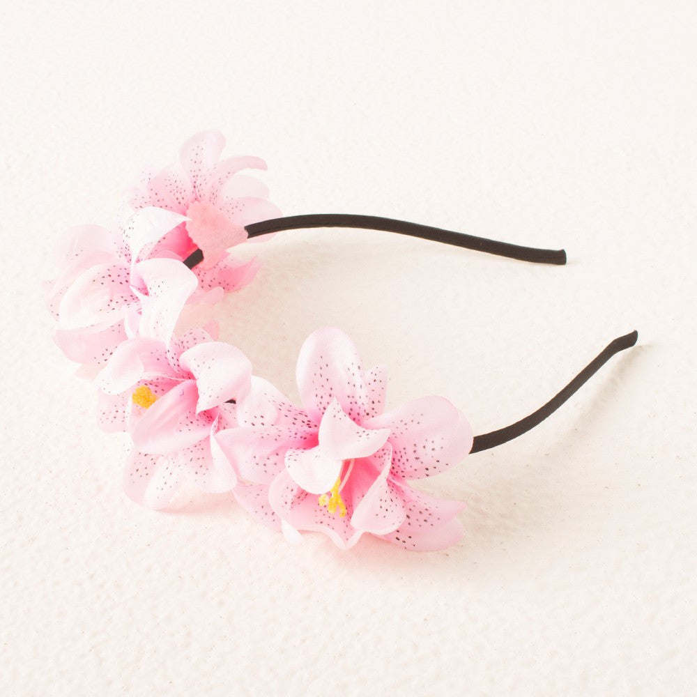 Princess Floral headband -  Light Pink
