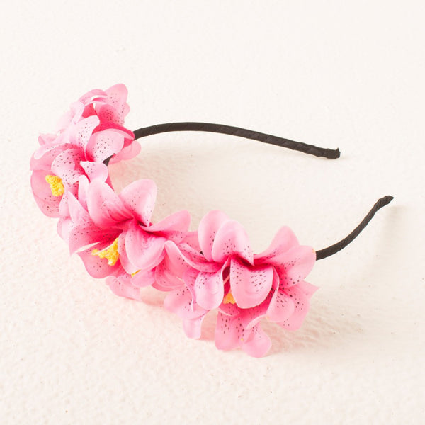 Princess Floral headband - Pink