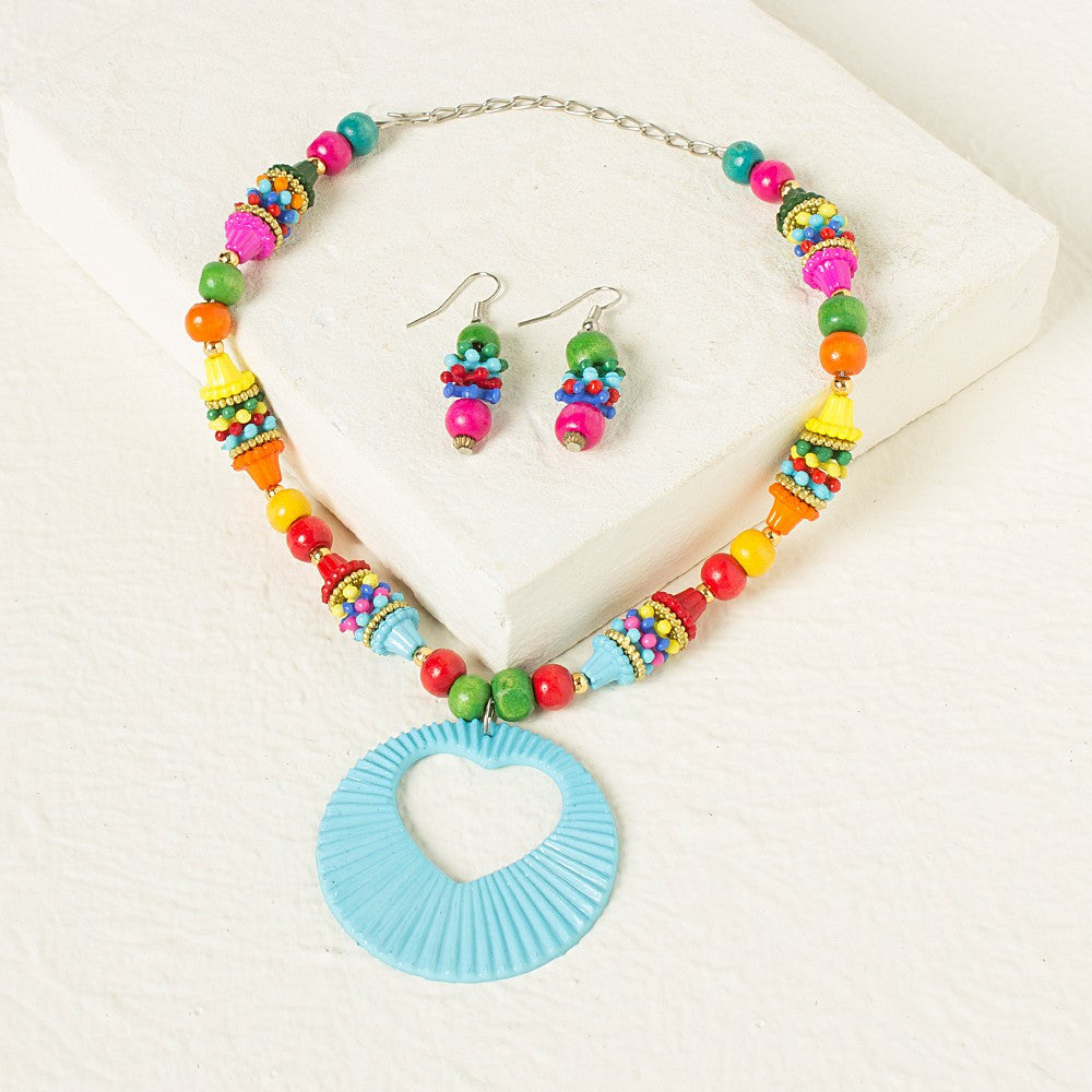 Multicolor Necklace set - Blue