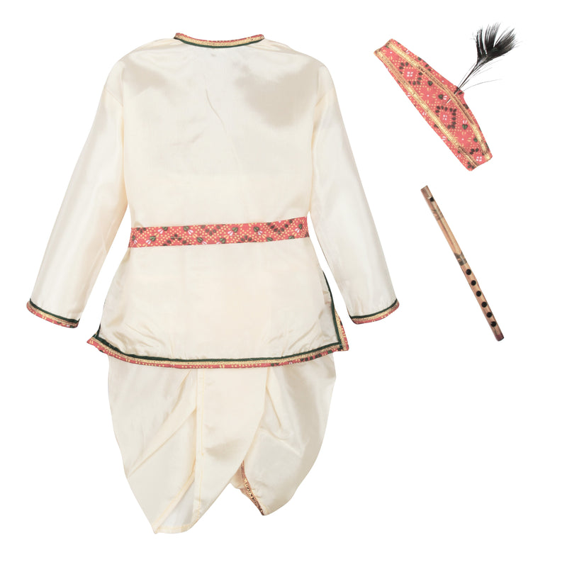Bownbee Kanhaiya Dhoti Kurta for Boys - White - BownBee - Creating Special Moments