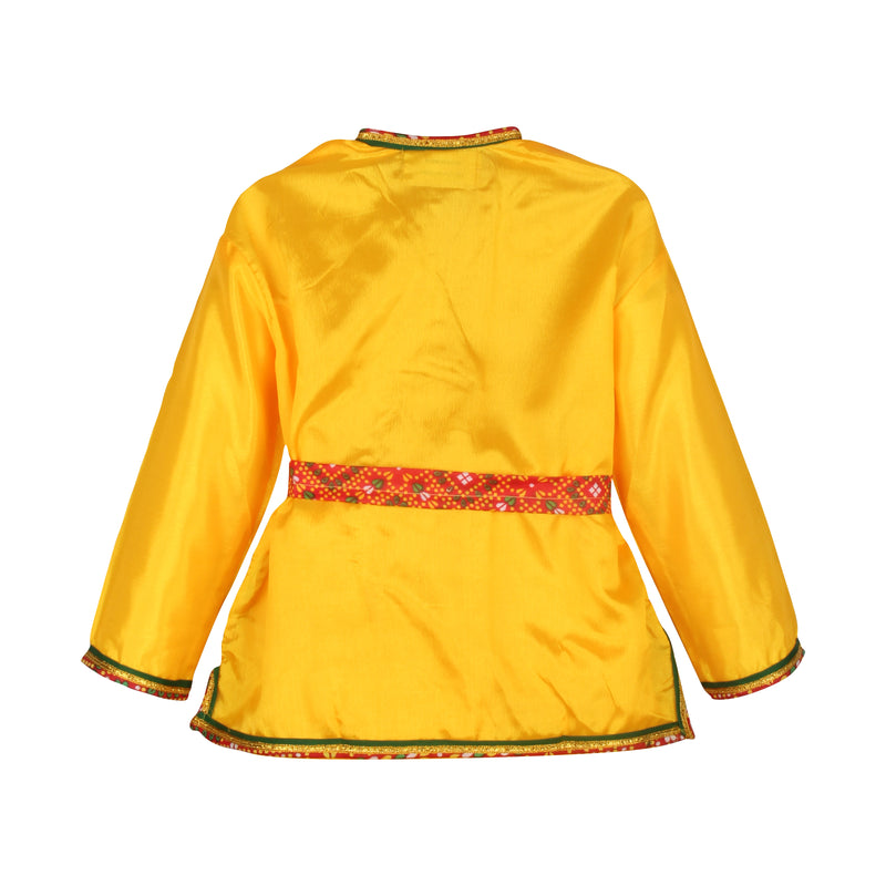 Bownbee Kanhaiya Dhoti Kurta for Boys - Yellow & Maroon - BownBee - Creating Special Moments