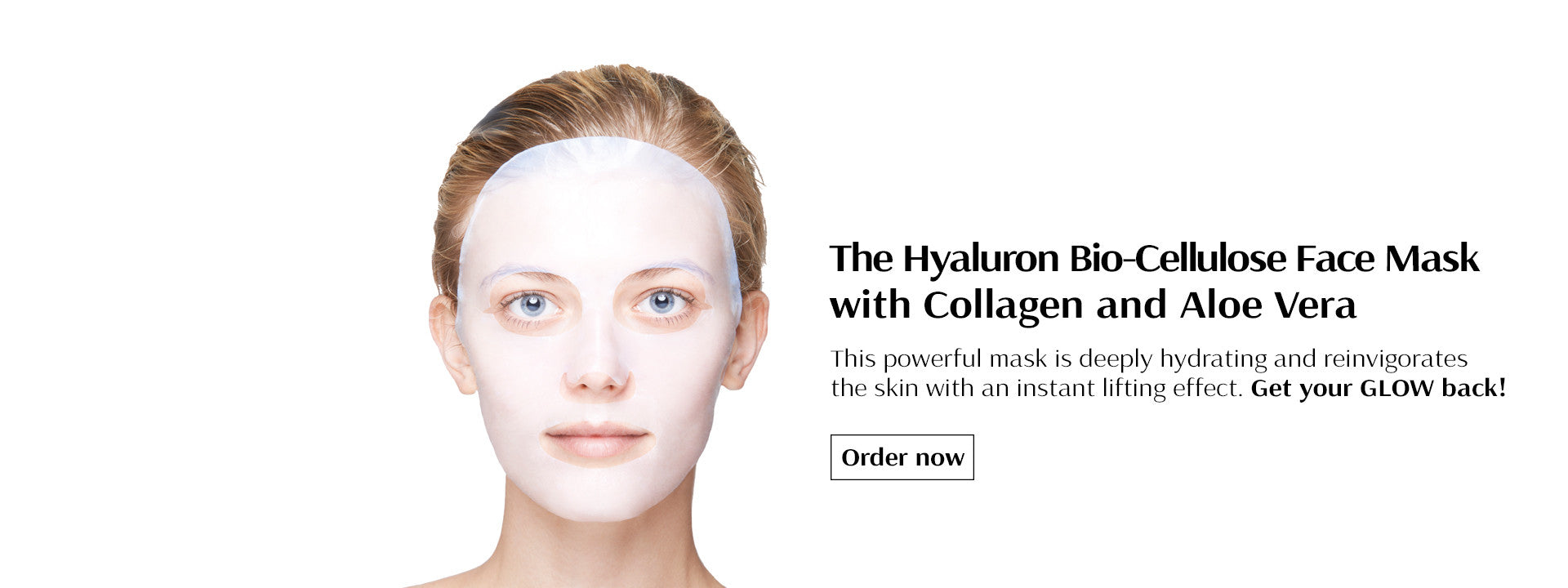 The Hyaluron Bio-Cellulose Face Mask with Collagen and Aloe Vera
