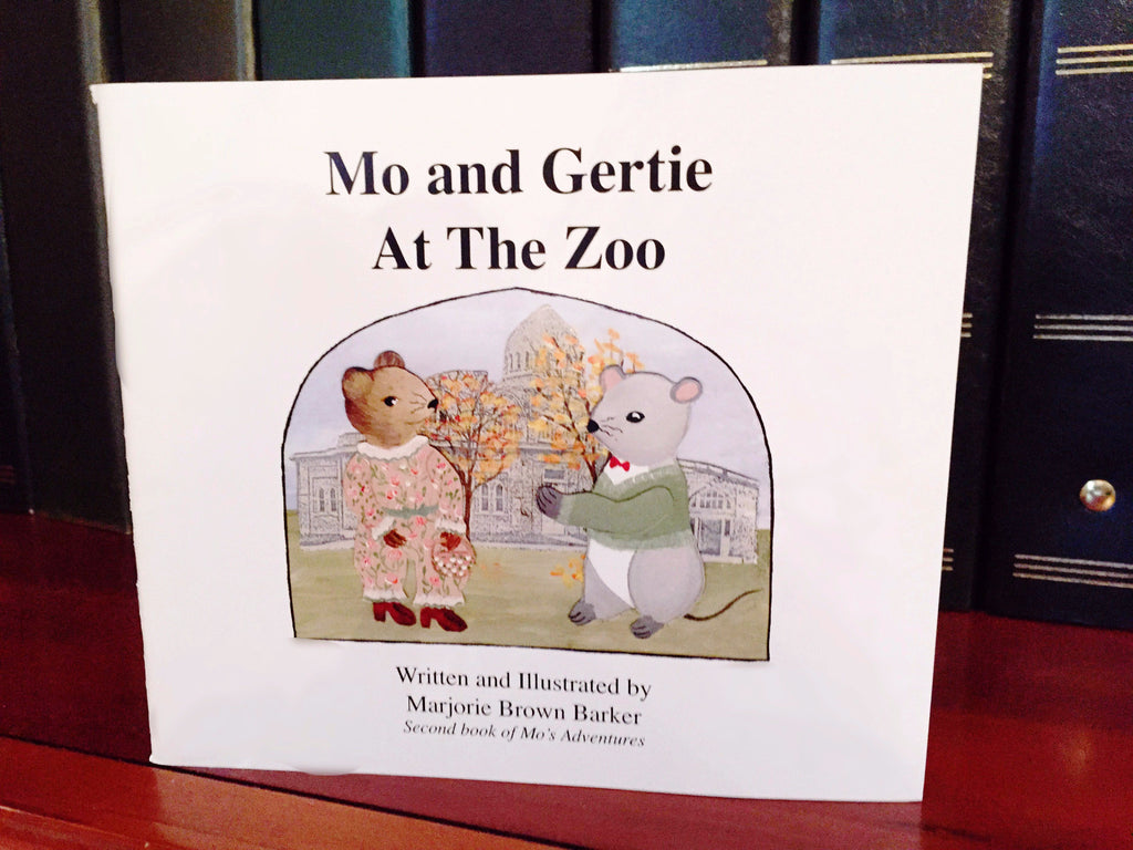 Mo and Gertie at the Zoo Book - Barker Ornaments - 1