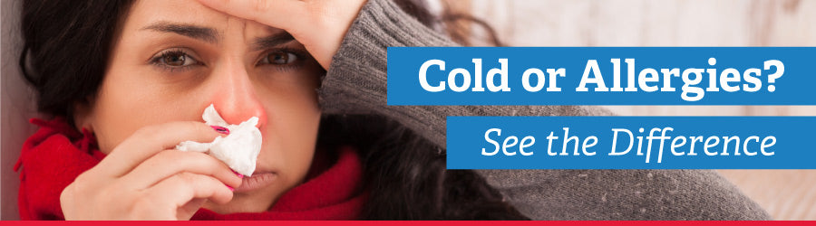 Cold Vs. Allergies Banner