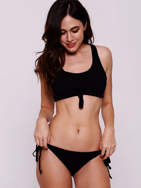 BRAN Scoop Knot Bandeau in Black