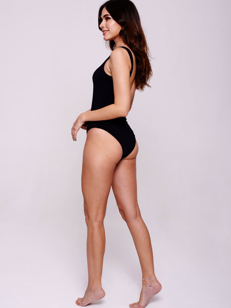 CABANA One-Piece in Ebony Black
