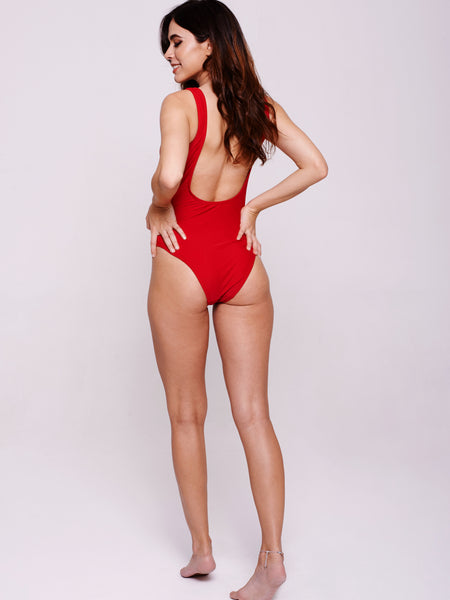 CABANA One-Piece in Rosso Red