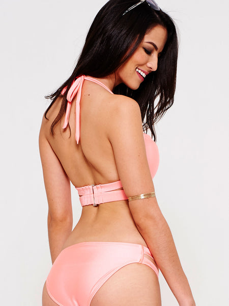 GLO Push-Up Bandeau in Peach