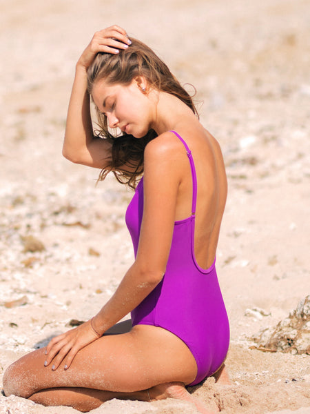 PALOMA One-Piece in Dark Magenta