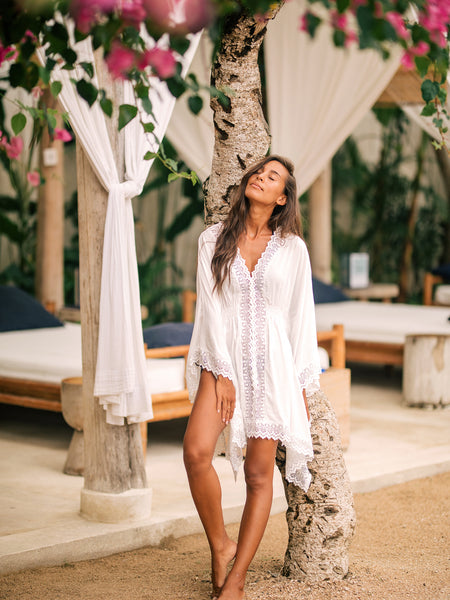 TALIKA Kaftan in White