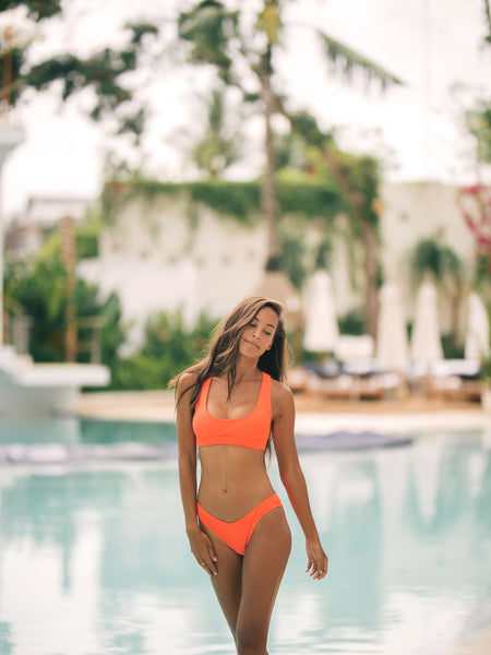 TARGA Scoop Bandeau in Neon Orange