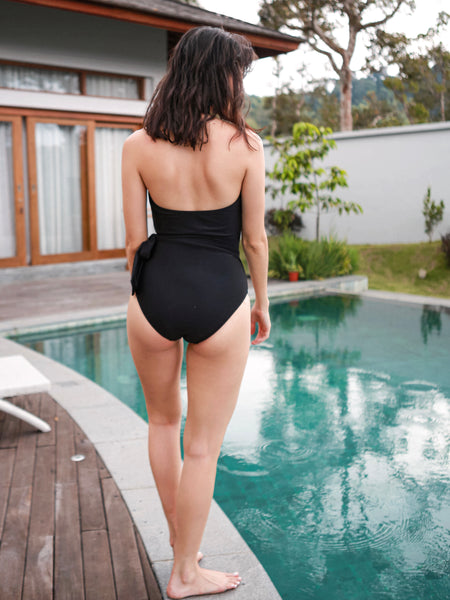 TULUM Plunge One-Piece in Ebony Black