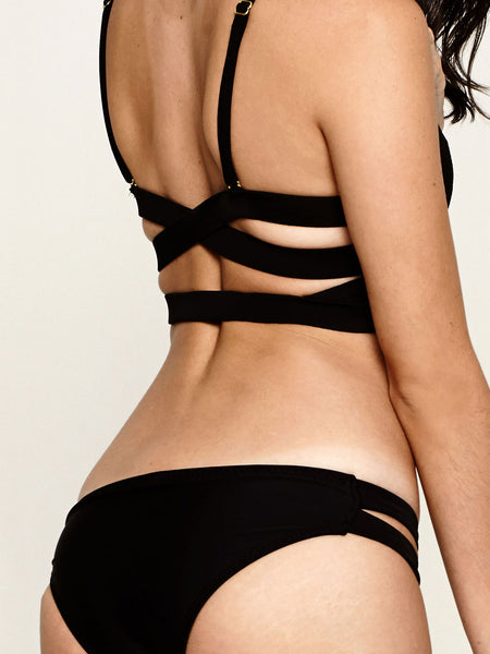 VISTA Cut Out Bottom in Black (Petite)
