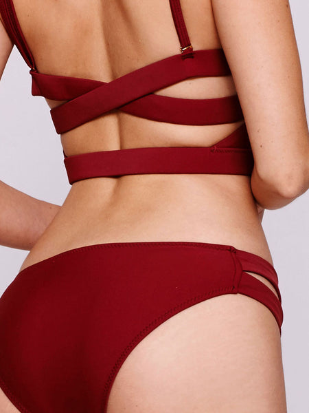 VISTA Cut Out Bottom in Wine Red (Petite)