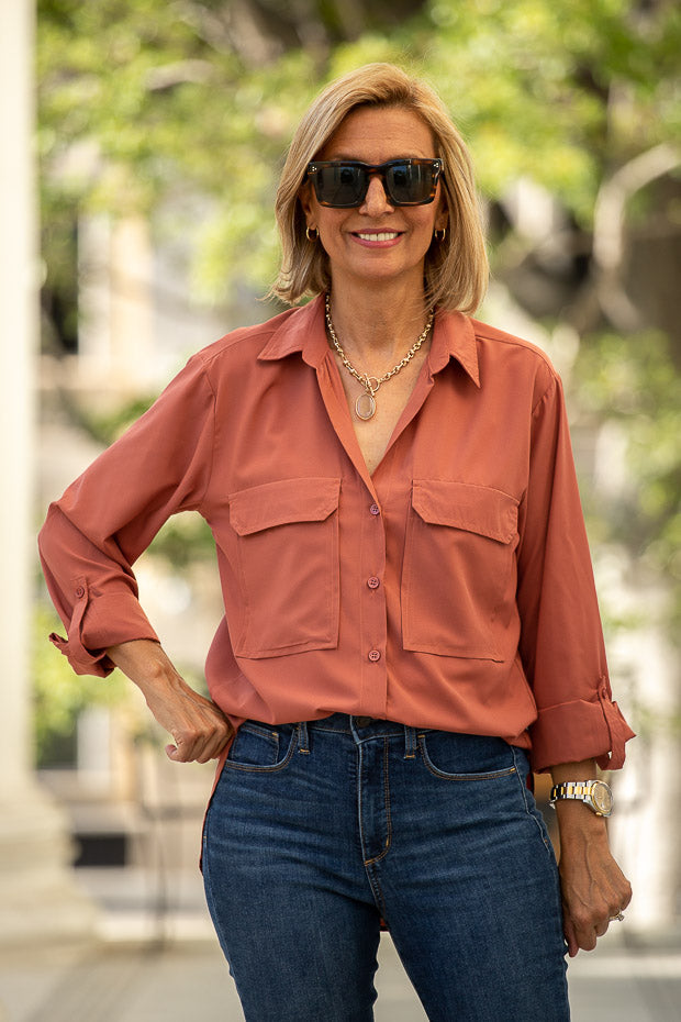 womens Sienna color shirt for fall