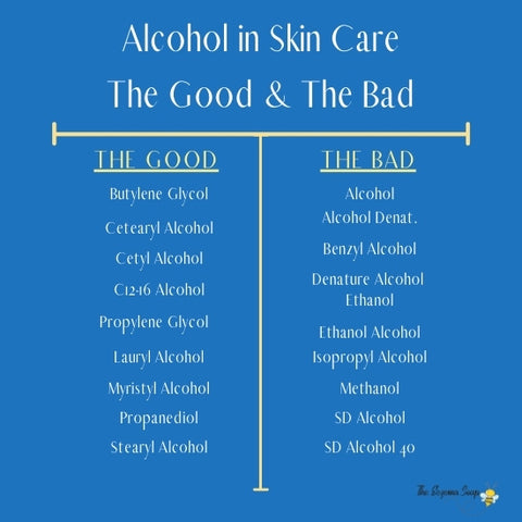 good and bad alcohols in skin care