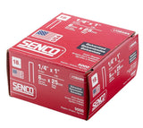 Senco L13BABN 18-Gauge by 1/4-inch Crown by 1-Inch Leg Electro Galvanized Staples (5,000-Per Box)