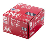 Senco L14BAB 18 Gauge by 1/4-inch Crown by 1-1/8-inch Length Electro Galvanized Staples (5,000 per box)