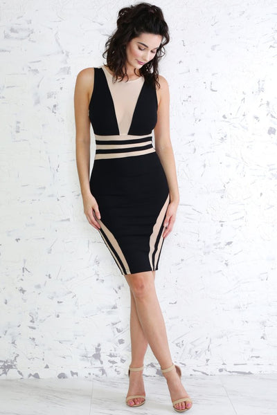 lolo-jones-espy-inspired-black-mesh-dress