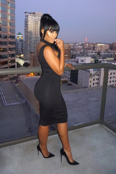 Makeupshayla Sexy Black Dress