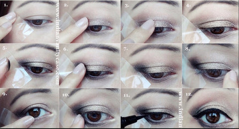 Scotch Tape for Eye Make Up Tutorial