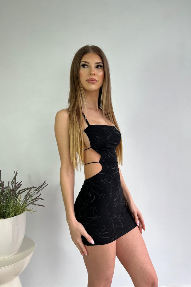 You Get Me Cowl Neck Bodycon Mini Dress