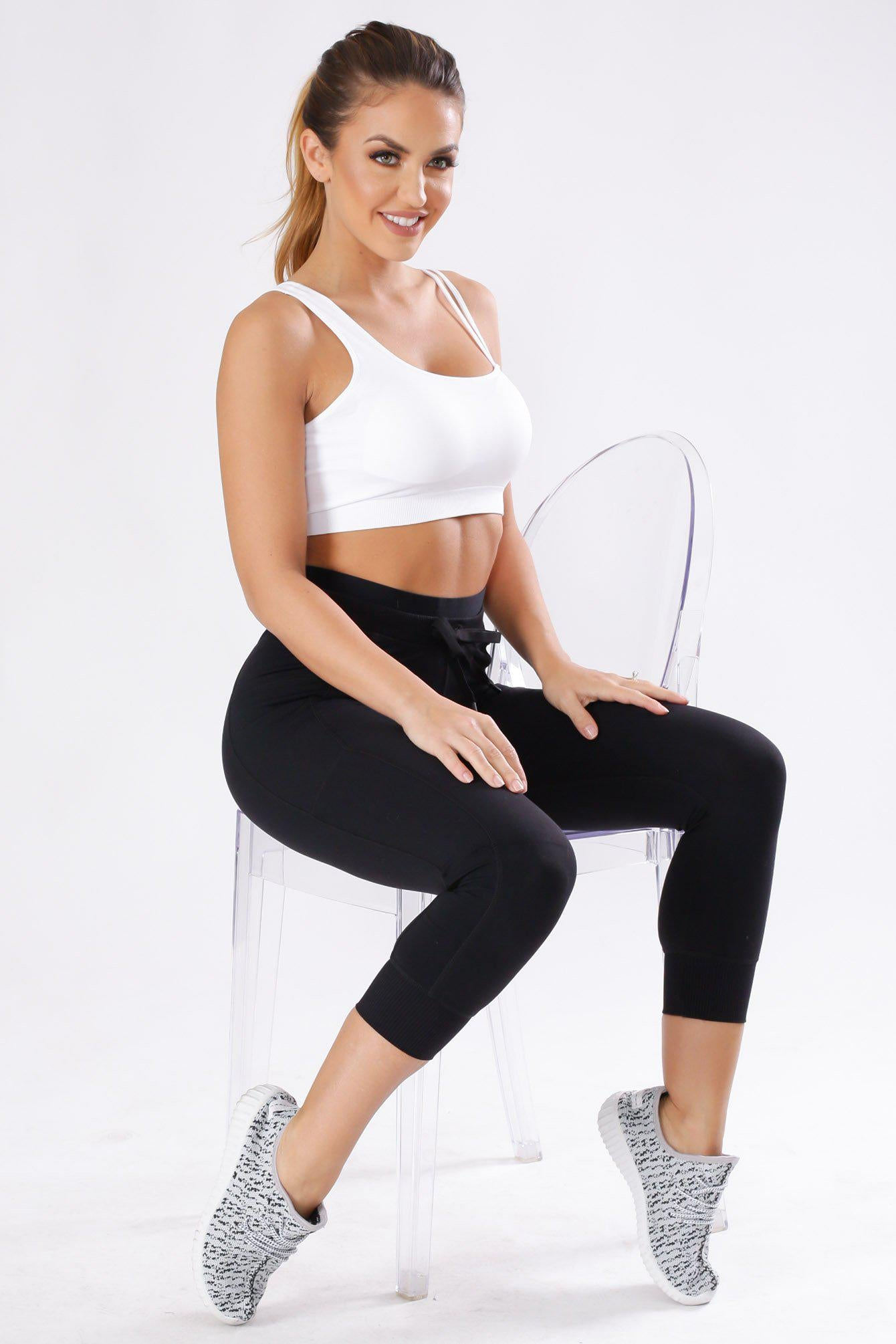 At All Times Drawstring Capri Leggings