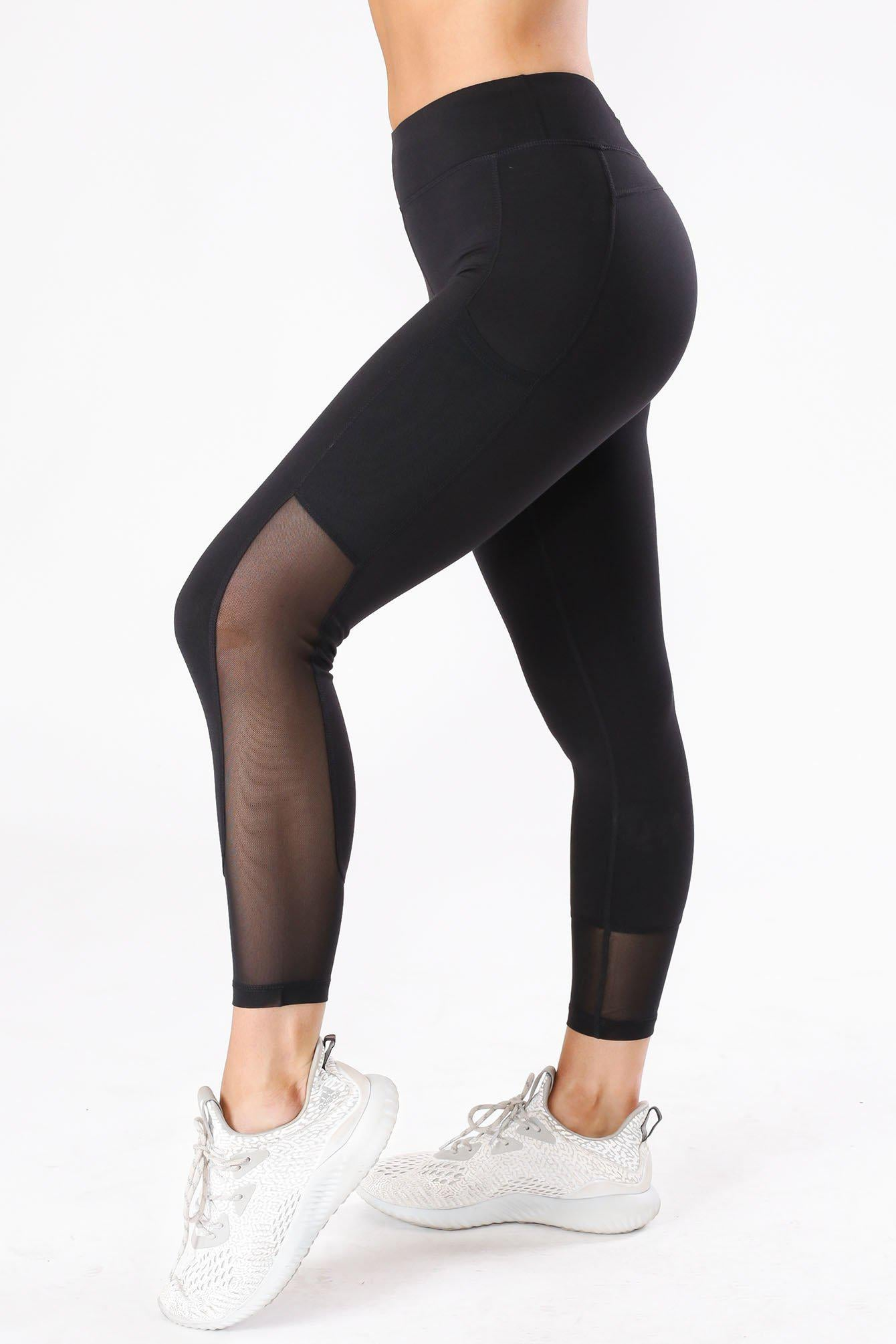In My Zone Mesh Capri Leggings