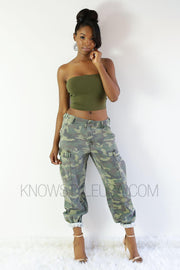 Contour Tube Top-S-Olive-T9325-KNOWSTYLE