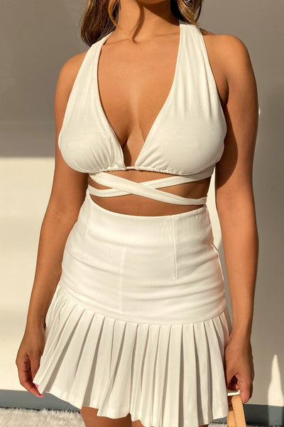 Always There Wrap Around Self-Tie Crop Top-Small-White-KNOWSTYLE