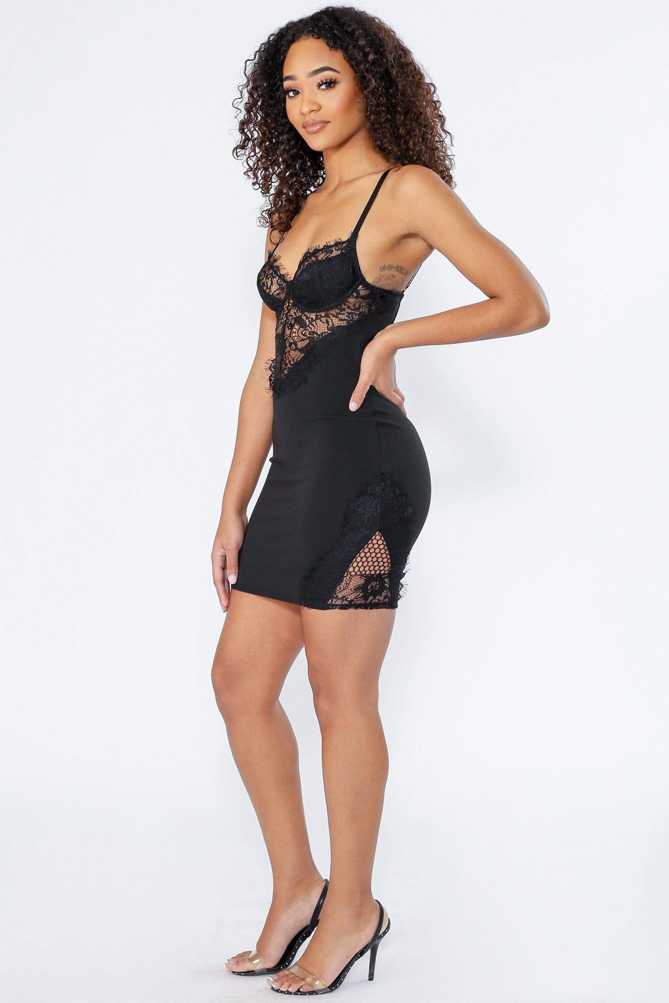 Bloomin Lace Bustier Bodycon Dress