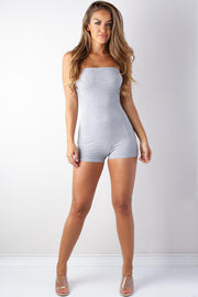 Fallin' Into You Basic Romper-S-Grey-KNOWSTYLE