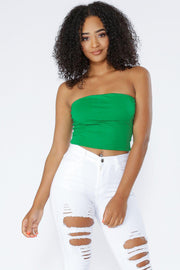 Contour Tube Top-S-Green-T9325-KNOWSTYLE