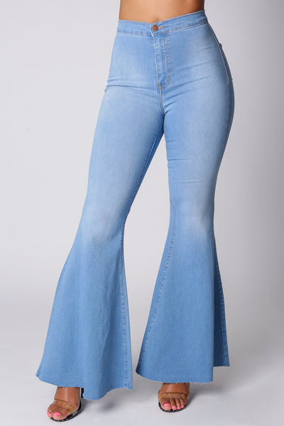 Harper High Rise Flare Jeans-1-Denim-KNOWSTYLE