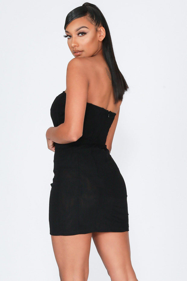It's You Sheer Mesh Tube Mini Dress-KNOWSTYLE