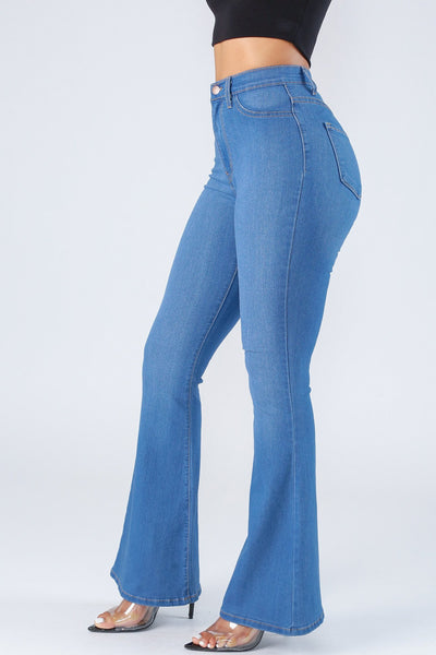 Palisades High Waist Bell Bottom Jeans-KNOWSTYLE