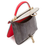 Federica bag, Elaphe/Evolution ##Nero/Bianco/Corallo