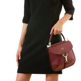 Federica bag, Smooth ##Claret